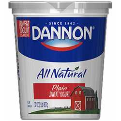 Dannon Plain Low Fat Yogurt