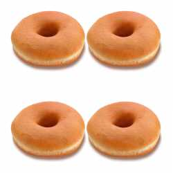 Fresh Plain Donuts x 4