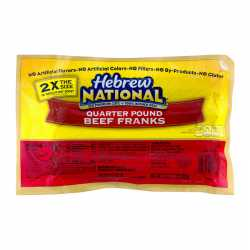 Oscar Mayer Hebrew National Quater Pound Beef Franks