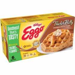Eggo Thick & Flutty Waffle Cinamon Brown Sugar