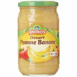 Andros Compote de Pomme et Banane Jar 750 Gm