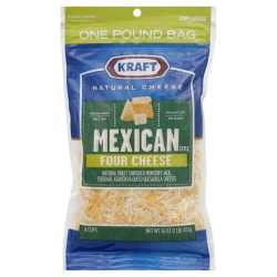 Kraft Mexican four cheese...